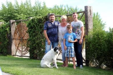 Das sind WIR: Christian, Birgit, Marco und Leon